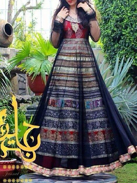 Pakistani dress by jannat nazeer