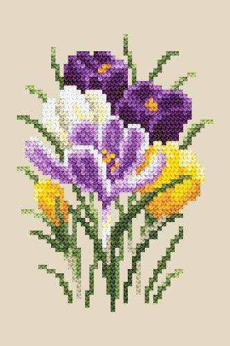 Crocussen borduren