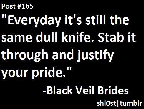 Knives and Pens- Black Veil Brides