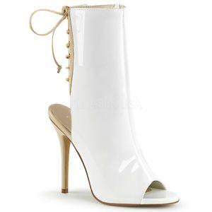 a blanco encaje hasta zapatos de taco botas al tobillo botines zapatos de arrastre para hombre talla 12 13 14
