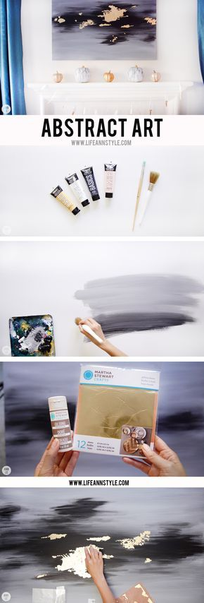 DIY Abstract Art for your Home Decor | 5 Fall DIY Décor Projects for your Home | Ann Le Style