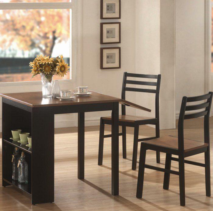 La Table De Cuisine #15: La Table De Cuisine Pliante - 50 Idées Pour Sauver Du0027espace - Archzine.fr