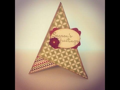 """TEEPEE card   Fun project using Stampin' Up!'s """"Seasons of Style"""" DSP. For more information and a list of all the supplies used please visit my blog at http://www.gardenof..."""
