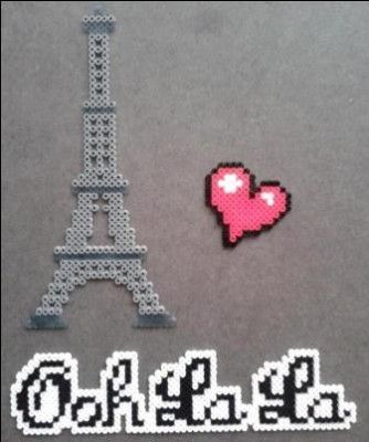 """Paris, mais oui"" perler bead design by Yazz"