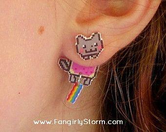 Nyan Cat earings?!?!