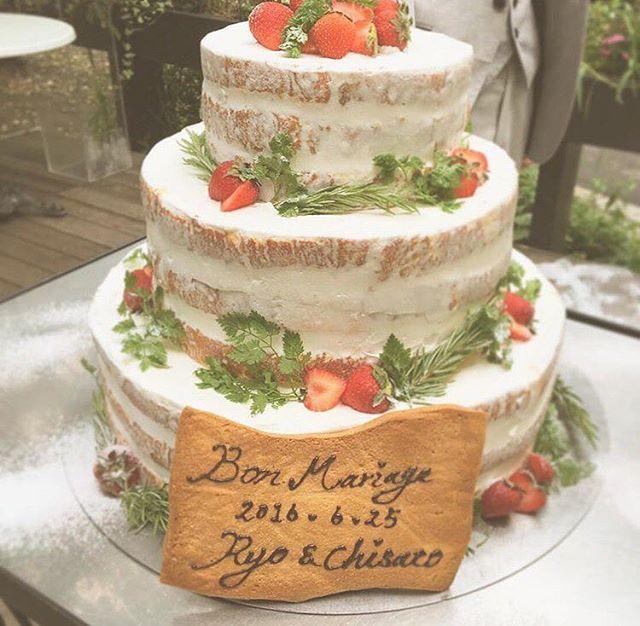 ウエディングケーキ❤︎ ハーブとローズマリーの グリーンがアクセントにっ❤︎ #エルミタージュ小山 #小山 #宇都宮 #栃木 #那須 #ウエディング…
