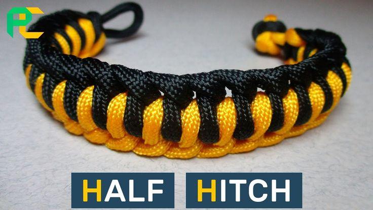 Half Hitch Paracord Bracelet Without Buckle Paracord
