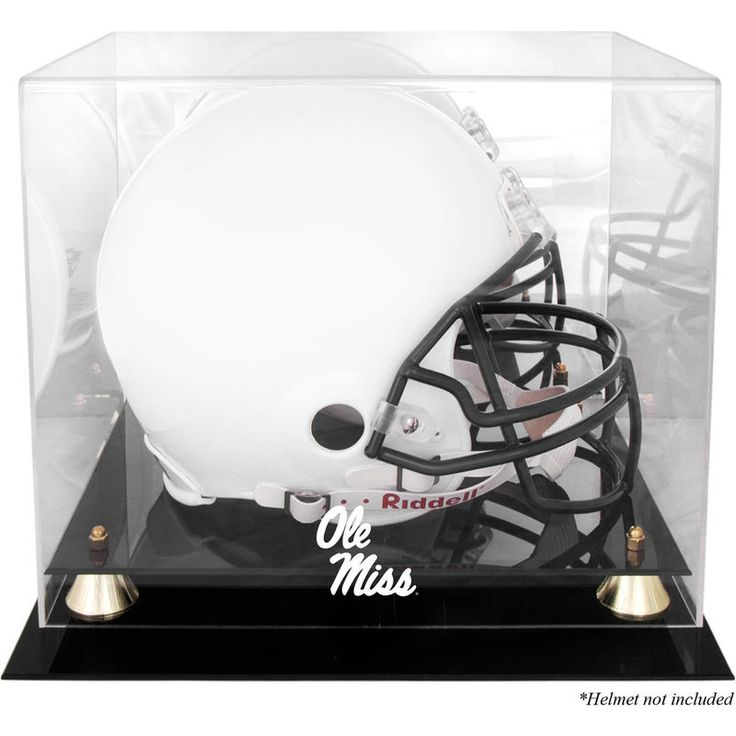 Ole Miss Rebels Fanatics Authentic Golden Classic Team Logo Helmet Case with Mirrored Back