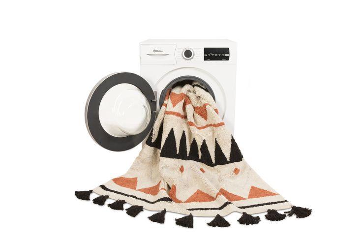 Washable Rug Azteca - Terracota / Alfombra lavable Azteca - Terracota #washablerugs #lorenacanals #azteca #machinewashablerugs #kidsdecoration #rugsforkids