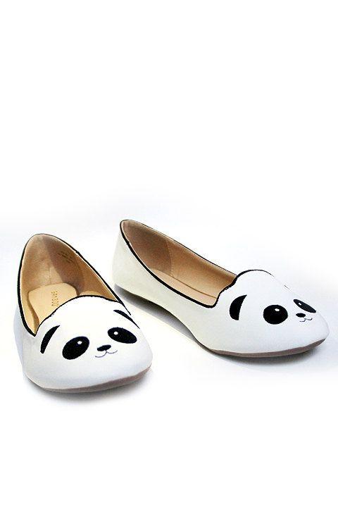 PANDA FLATS Adorable White Panda Bear Ballet por FashionCorporation, $25.90