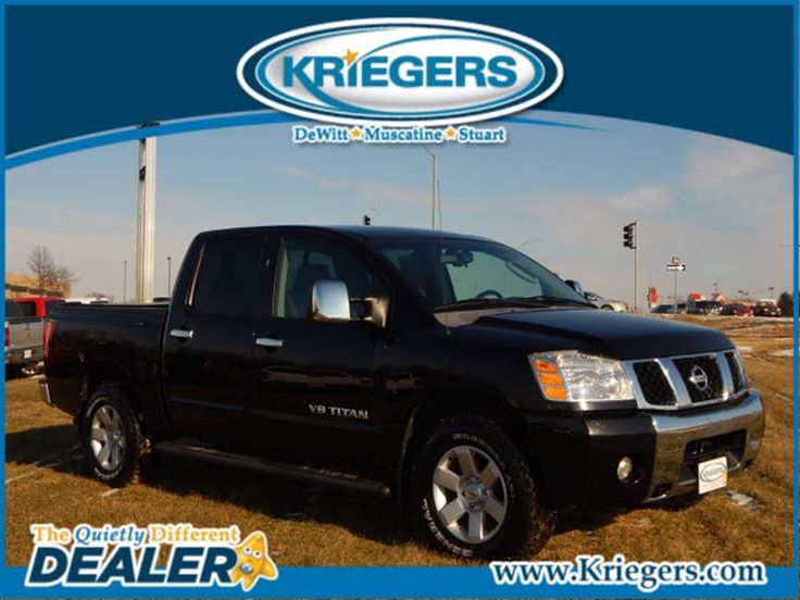Used 2006 Nissan Titan LE for sale in Muscatine - Krieger Motor Company - Muscatine Iowa - 1N6BA07B16N509519