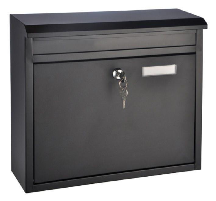 New Der Briefkasten aus Metall ist pulverbeschichtet in schwarz und wirkt dadurch sehr edel Produktinformationen