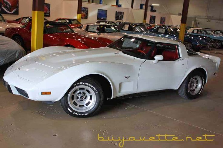 1978 Corvette - Classic white (factory paint color) on red