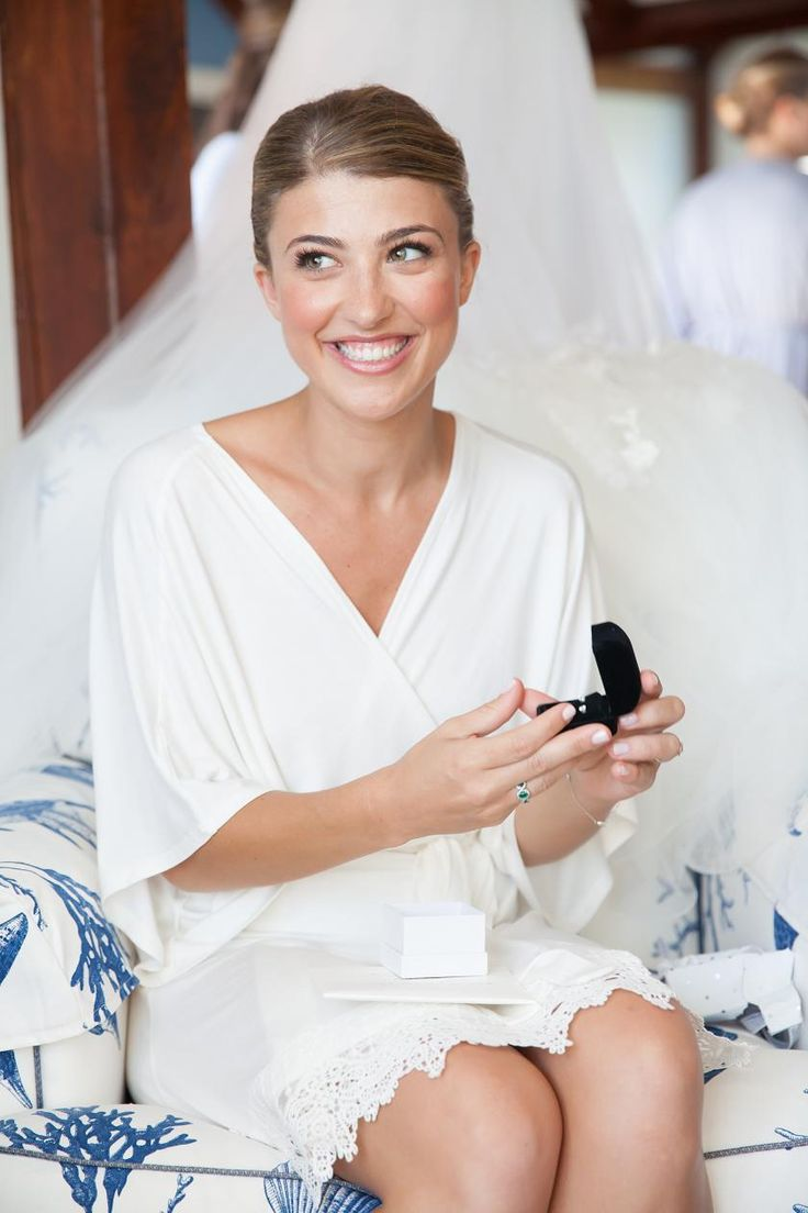 Chic Robe for the Bridal Morning | Cary Hazlegrove Photography on @classicbride