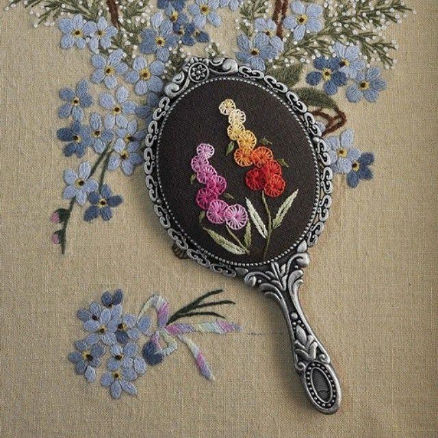 목동 현대백화점에서 특강할 작품 #야생화자수 #프랑스자수 #야생화느낌자수 #embroidery