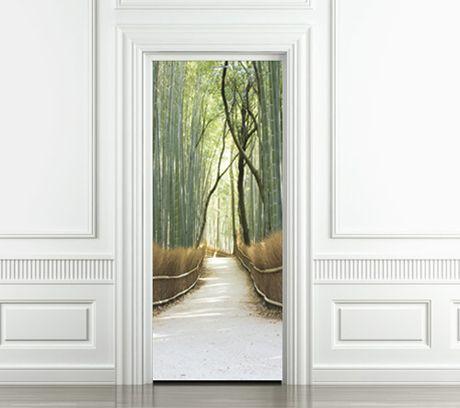 Trompe l'oeil door.  Giant stickers from 'Style your door' for interior doors, windows and walls.