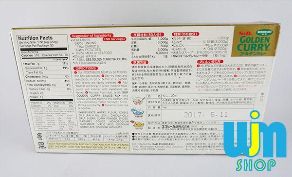 Golden Curry - Kari Jepang S&B Golden Curry Curry adalah bumbu masakan untuk membuat nasi curry atau udon curry.  penggunaannya sangat mudah, hanya tinggal ditambah sayur dan daging kemudian dipanaskan lalu disiram ke nasi atau udon.