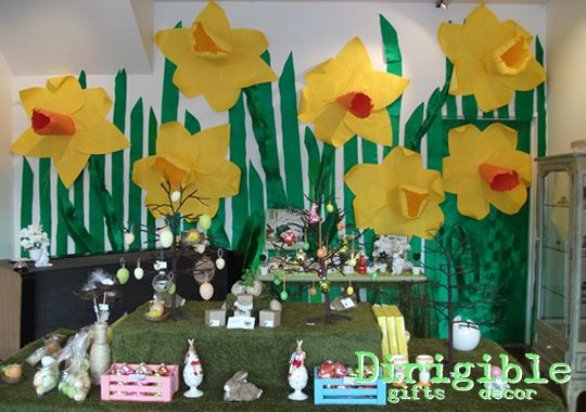Giant paper Daffodils ensure spring has sprung at Dirigible's Easter Shop!