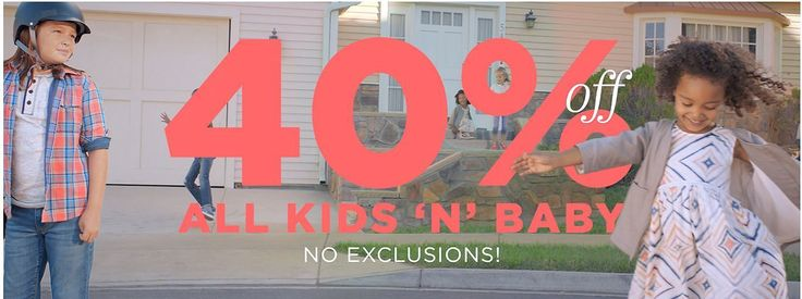 40% off All Kids and Baby / Old Navy