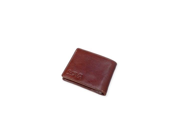 SOVA Pánská kožená peněženka TRE, pro leváky, Marrone