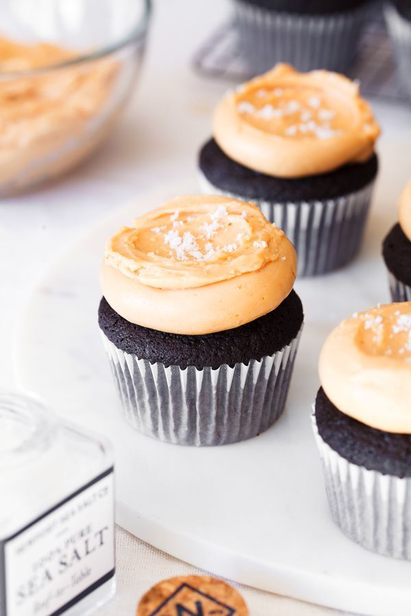 Salted Dulce de Leche Chocolate Cupcakes