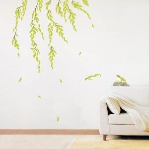 Decowall,KR-0022, Frogs and Willow Wall Stickers ,Home Art Decoration-wall stickers/wall decals/wall transfers/wall tattoos/wall sticker