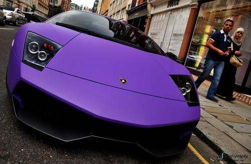 Purple Matte Lamborghini
