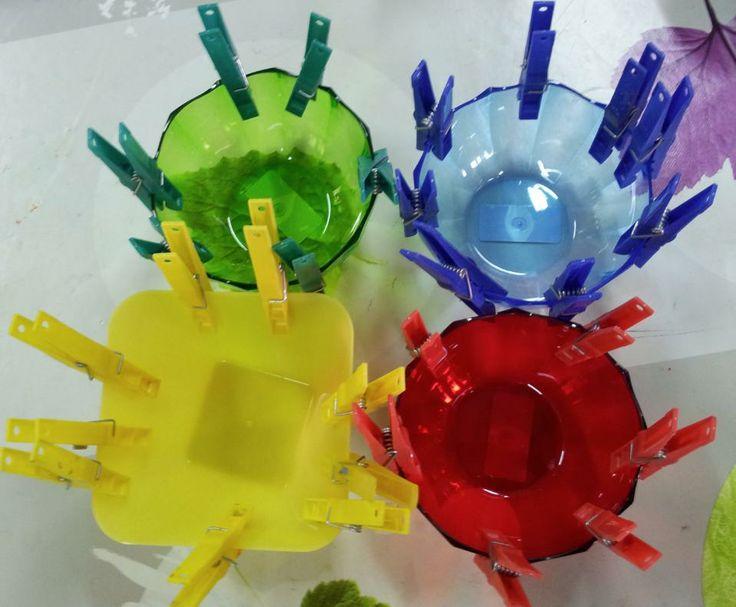Activit de tri de couleur vu sur le net l 39 int r t - Activite pince a linge maternelle ...