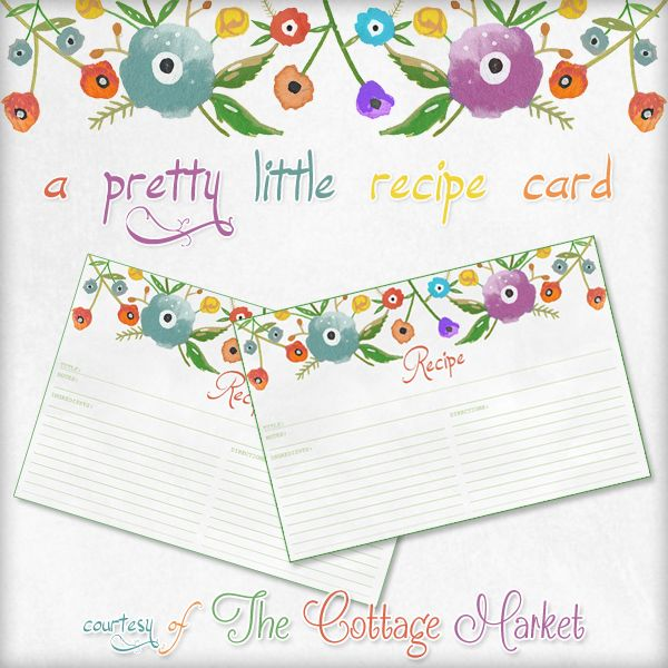 A pretty little Recipe Card, Anthropologie inspired | The Cottage Market