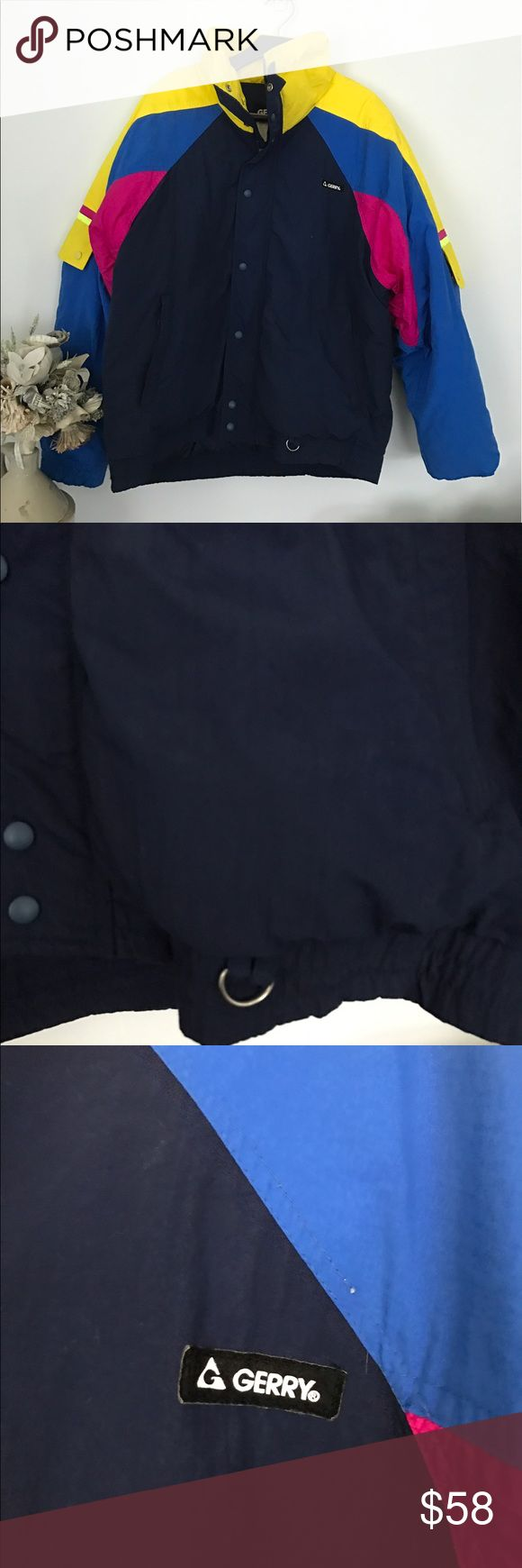"""Gerry Men's jacket puffer coat L """"Holden"""" vintage Two button pockets on sleeve. Pre loved condition. No rips , tears. Smoke and pet free home. Bundle discount 20% Gerry Jackets & Coats Ski & Snowboard"""