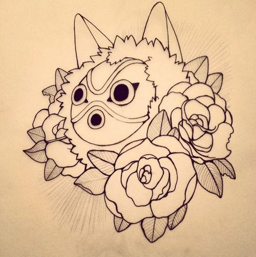 princess mononoke tattoo | Tumblr