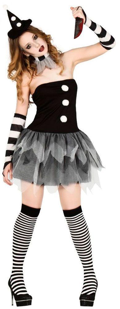 Disfraz de mujer de arlequín asesina para Halloween