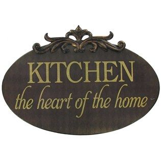 Open Road Brands Kitchen the Heart of the Home Tin Sign | Shop Hobby Lobby