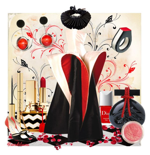 White, Red and Black by fiordiluna on Polyvore featuring moda, Jimmy Choo, Mark Cross, Marni, Yves Saint Laurent, Christian Dior, Capucci, white, black and red