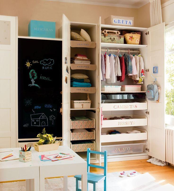 C mo ordenar el armario de los ni os espacios - Armarios para ninas ...
