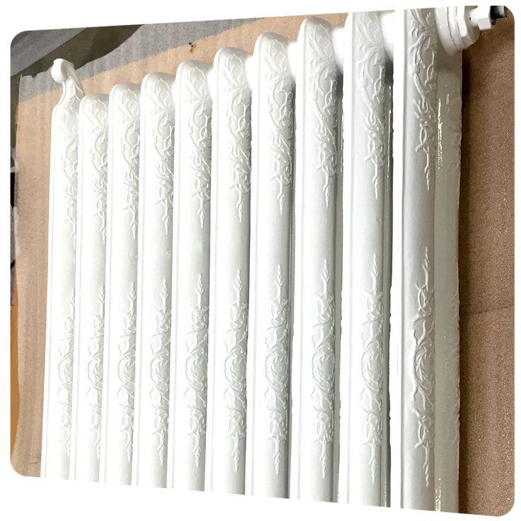 restauration complte avec sablage et peinture dun radiateur fonte chez qualicolor http - Comment Peindre Un Radiateur En Fonte