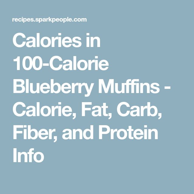 Calories in 100-Calorie Blueberry Muffins - Calorie, Fat, Carb, Fiber, and Protein Info