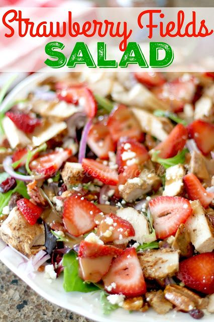 Strawberry Fields Salad by The Country Cook