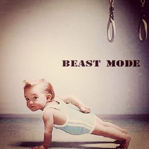 Baby Beast mode #beastmode