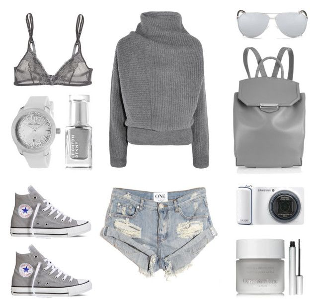 Biking around the city by fashionlandscape on Polyvore featuring polyvore, fashion, style, Acne Studios, One Teaspoon, Yasmine eslami, Converse, Alexander Wang, Lucien Piccard, Christian Dior, Omorovicza, Leighton Denny, rms beauty and Samsung