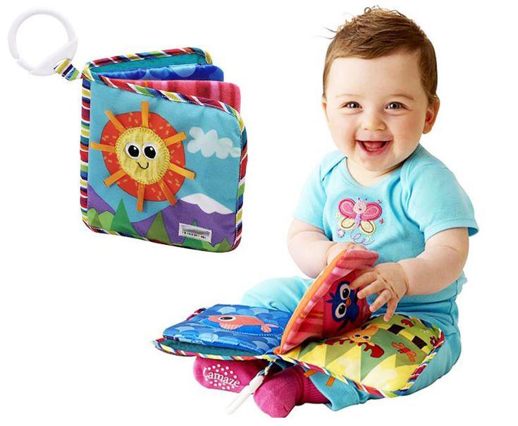 Bebé Juguetes Educativos de 0-12 Meses Bebé Tranquilo Libro 15*15 CM Página 4 Suave Para Brinquedo Bebe juguetes Para Los Recién Nacidos Peluches