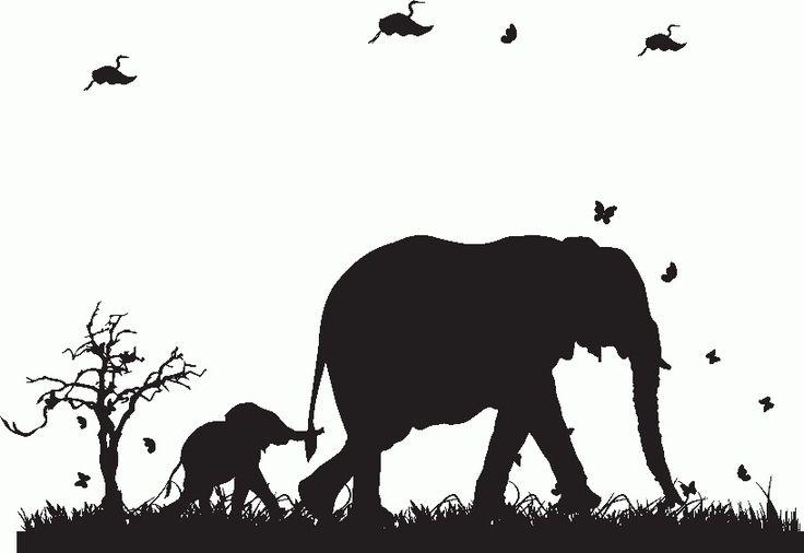 die besten 25 elefant wandfolie ideen auf pinterest. Black Bedroom Furniture Sets. Home Design Ideas