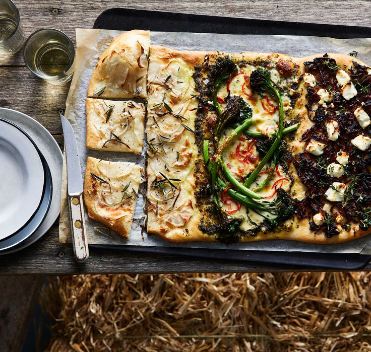 Pizza three ways (for when you can't decide on a topping)