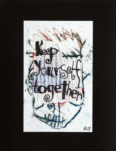 Original LABEDZKI Abstract Text Collages Keep Yourself Together 8 5x11 In | eBay