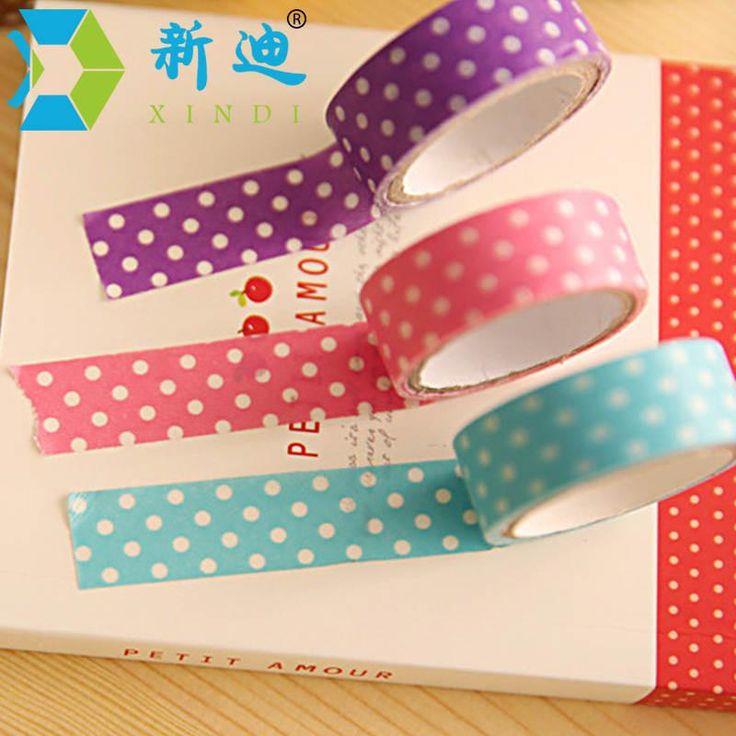 8 Colors 1.5mm*300mm Polka Dot Decorative Adhesive Tape