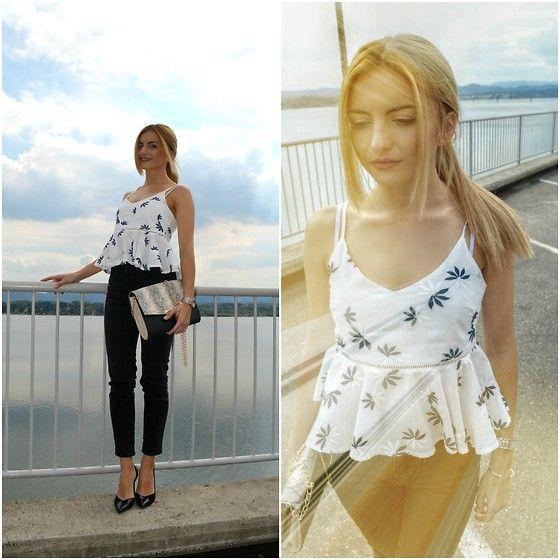 Lenna Fleur - Gamiss Cute Tank Top, Primark Bag, Zara Heels - Gamiss top