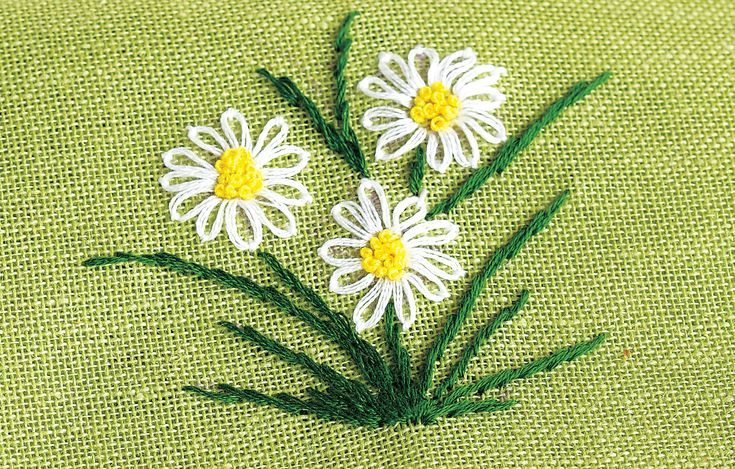 Embroidery+French+Knot+Flowers | Take a look at larger image of the embroidered flower napkin