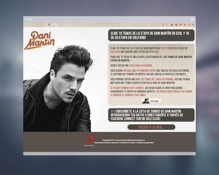 diseño web promoción dani martín.