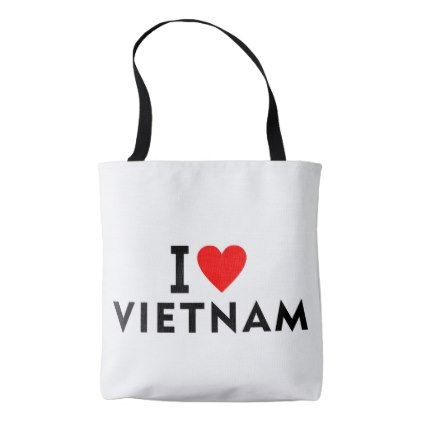 #I love Vietnam country like heart travel tourism Tote Bag - #country gifts style diy gift ideas