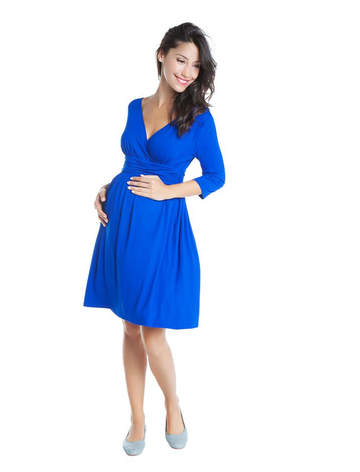 MATERNITY PERFECT! This winter we love royal blue! Classic yet fun its bright hues make you look stylish and bright! Meet the Jasmine dress! www.nanarisematernity.com #nanarise #maternity #maternitydresses #perfect #dayandnight